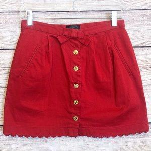 Topshop Button Down Mini Skirt